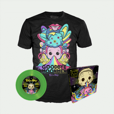 Funko SDCC Rick and Morty Shirt and Vinyl Set