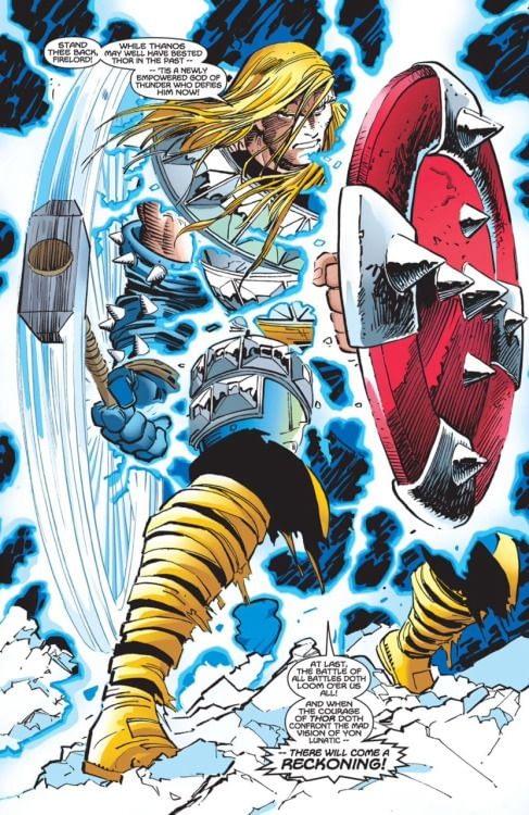 Thor Vol. 2 #25 art by John Romita Jr, Dick Giordano, and Gregory Wright