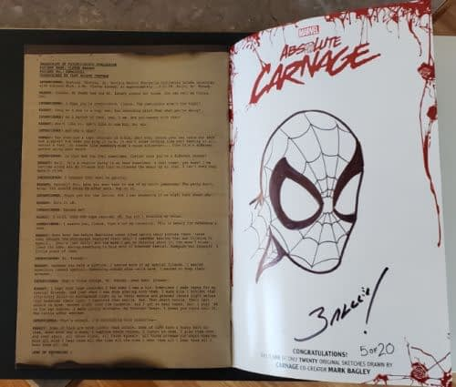 Now 6 Out Of 20 Absolute Carnage Mark Bagley Back Cover Sketches Have Been Found