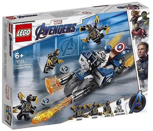 LEGO Avengers Endgame Captain America Outriders Attack 1