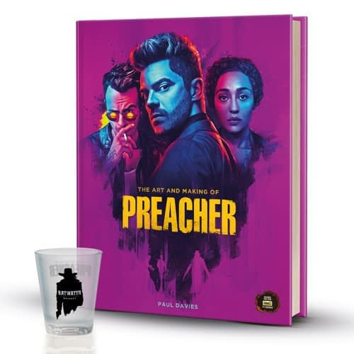 Titan SDCC Exclusive The Art and Making of Preacher with Limited Edition Ratwater Shot Glass