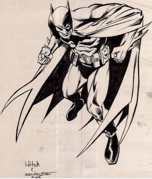 Bryan Hitch Batman sketch