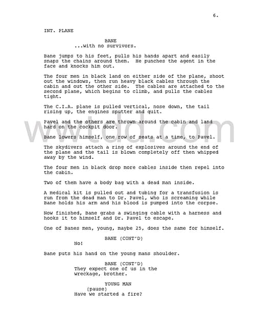 Can't Understand Bane? Maybe These Script Pages From The