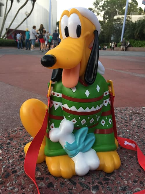 Pluto Holiday Popcorn Bucket