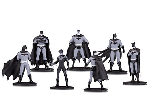 DC Collectibles Black and White Mini PVC 7 Pack 2