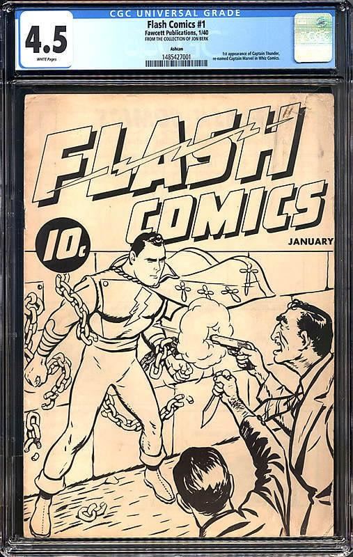 Flash Comics #1 Ashcan Captain Marvel Fawcett