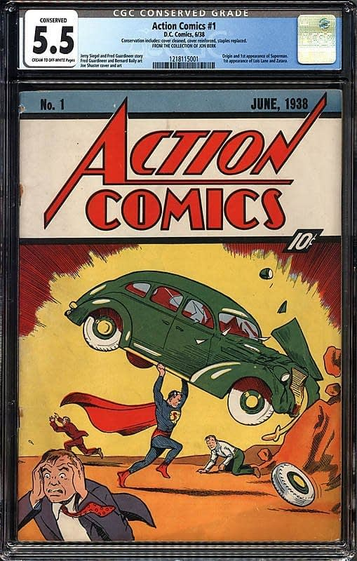 Action Comics #1 CGC 5.5 Conserved - Jon Berk Collection Session 1