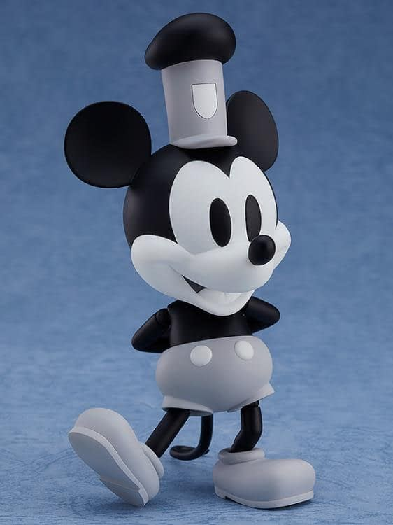Mickey Mouse Steamboat Willie Nendoroid Figure B&W 4
