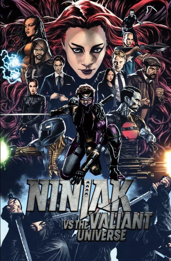 Ninja-K vs. the Valiant Universe #1 cover by Joe Bennett and David Baron