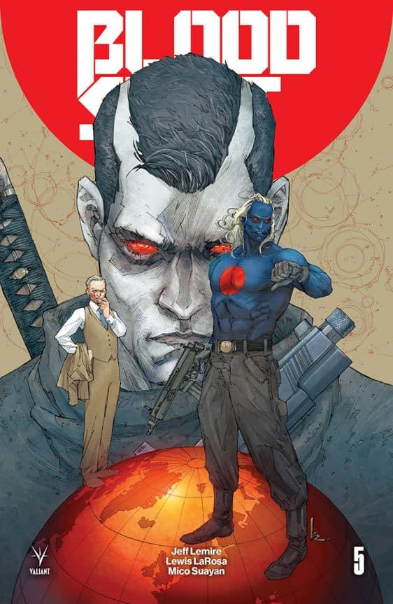 Bloodshot Salvation #5 cover by Kenneth Rocafort