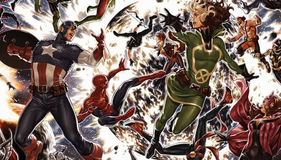 Avengers #675 cover by Mark Brooks