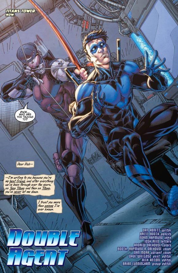 Interior Art to Titans #15 by Brett Booth
