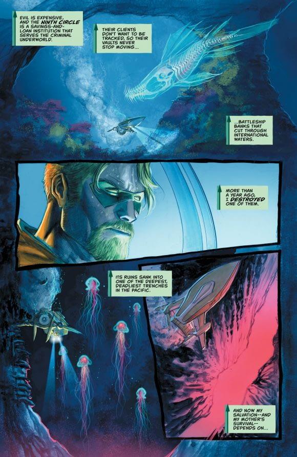 Green Arrow #35 art by Juan Ferreyra