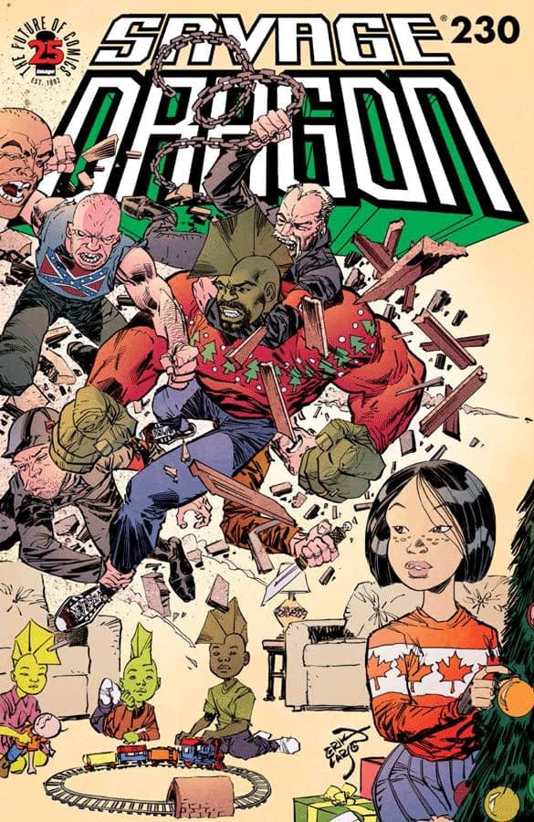 Savage Dragon #230 cover by Eric Larsen