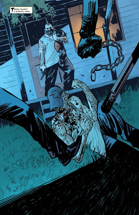 Redneck #9 art by Lisandro Estherra and Dee Cunniffe