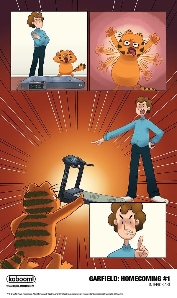Garfield Homecoming #1 art by Sara Talmadge