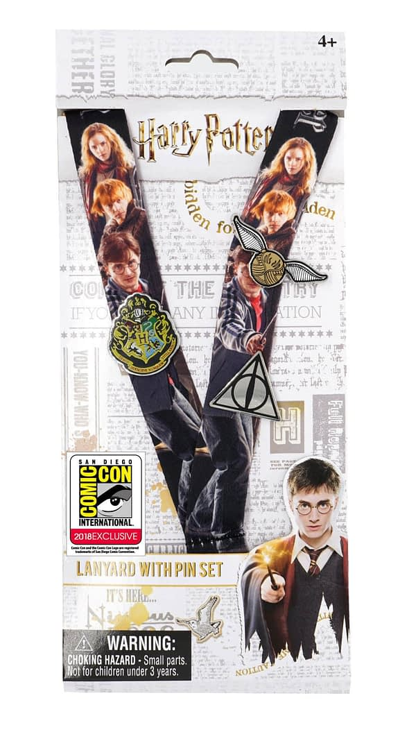 Monogram SDCC Exclusive Harry Potter Lanyard and Pins