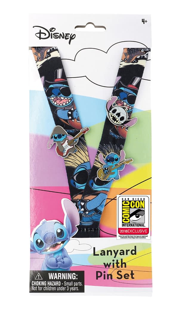 MOnogram SDCC Exclusive Lilo and Stitch Lanyard and Pin Set