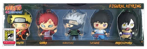 Mondo SDCC Exclusive Naruto Keyring Set