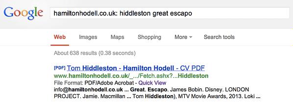 hiddleston cv