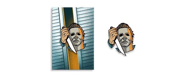 Halloween Mondo Michel Myers Pin
