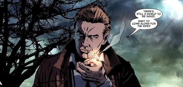 john constantine smoking