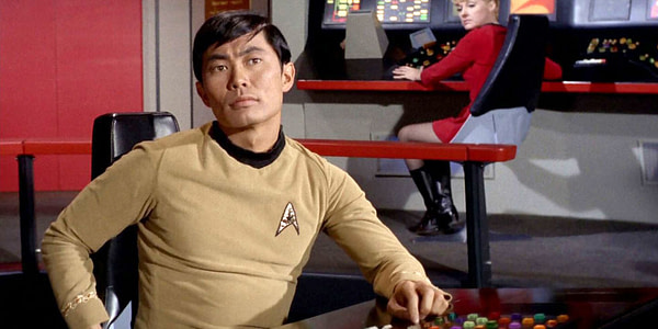 George Takei as Sulu on Star Trek