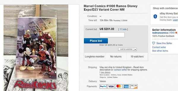 Comic Stores Get One Copy Each of Mickey Mouse Marvel Comics #1000 D23 Cover