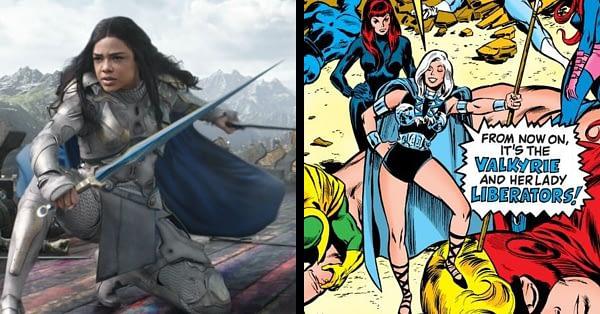 Tessa Thompson as Valkyrie in Thor: Ragnarok