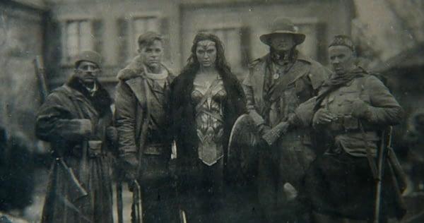 Wonder Woman WWI 1918 photo from Batman v Superman - Saïd Taghmaoui, Chris Pine, Gal Gadot, Eugene Braverock, Ewen Bremner