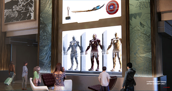 Art of Marvel Hotel Disneyland Paris Concept Art 2