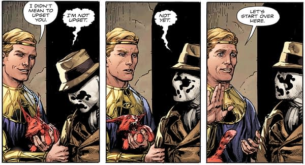 Doomsday Clock #1 art by Gary Frank and Brad Anderson