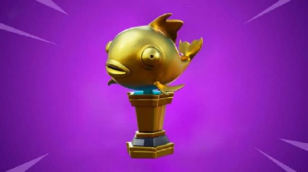 """Fortnite's"" Rare Mythic Goldfish Trophy Just Killed An Unsuspecting Player"