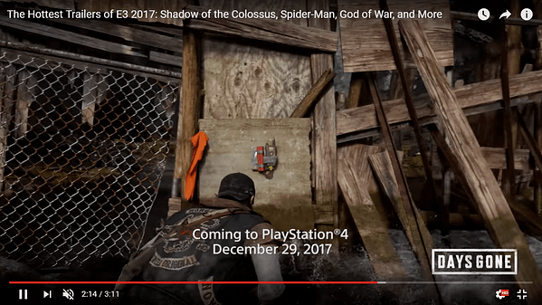 Sony Removes Self-Leaked Footage Of 'Days Gone' Release Date
