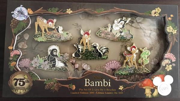 D23 Bambi Anniversary Pin Set