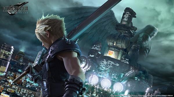 Final Fantasy 7 Remake VII city pose