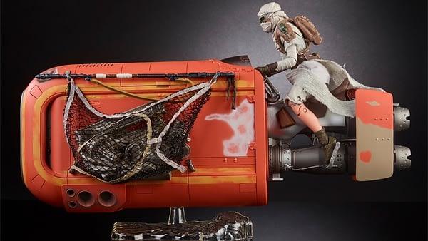 Black Series Rey on Speeder 3