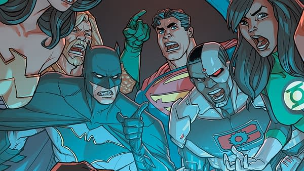 Justice League #37 cover by Pete Woods