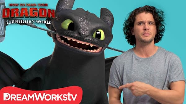 HOW TO TRAIN YOUR DRAGON: THE HIDDEN WORLD   Kit Harington Auditions with Toothless