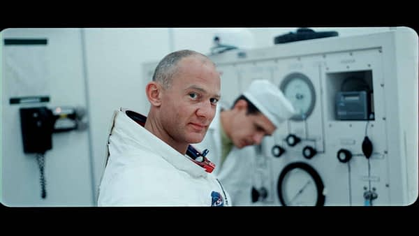 A still of Buzz Aldrin from APOLLO 11 by Todd Miller, Courtesy of Sundance Institute.