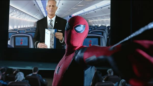 Spider-Man to Lecture Passengers on Airplane Safety for New United Airlines Promotion
