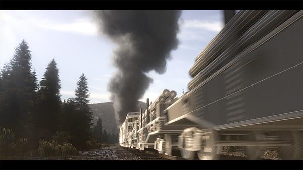 Deadwood: The Movie's opening train scene in development by FuseFX, ©2019 HBO.