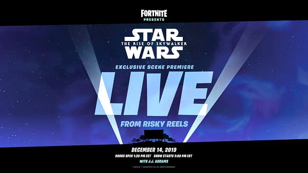-quot;Fortnite-quot; Will Be Showing A Clip Of -quot;#Star Wars: The Rise Of Skywalker-quot;