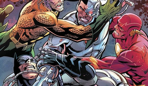 Justice League #39 cover by Paul Pelletier, Cam Smith, and Adriano Lucas