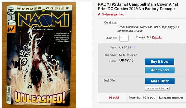 Can Anyone Find an Undamaged Naomi #5?