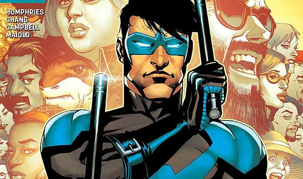 Nightwing #41 cover by Bernard Chang and Marcelo Maiolo