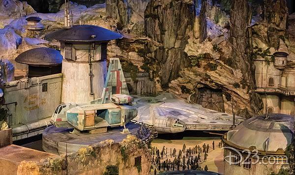 D23 Star Wars Land Model 3
