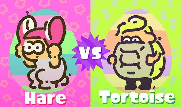Its The Tortist Vs. The Hare on Splatoon 2's Splatfest This Weekend
