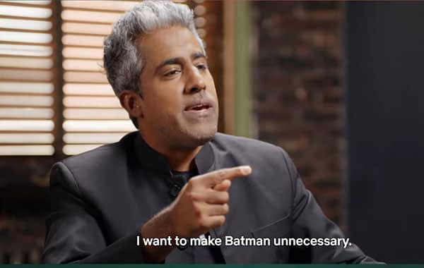 """""""I Want to Make Batman Unnecessary"""" - Anand Giridharadas Takes on Bruce Wayne in The Patriot Act"""