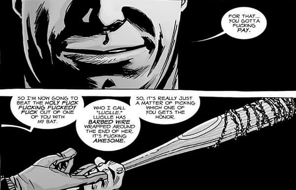 Negan The Walking Dead Comic